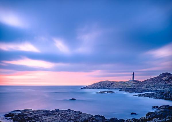 Pink Ribbon - Looking across Briaghlann to Ardnamurchan Lighthouse, Ardnamurchan