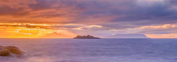 Water & Fire II - Isle of Eigg viewed from Ardtoe, Ardnamurchan