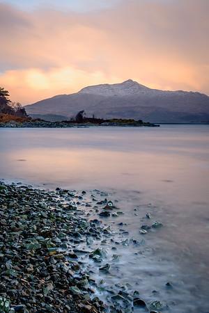 Respite I - Ben Resipole viewed across Loch Sunart from Torr Molach, Ardnamurchan