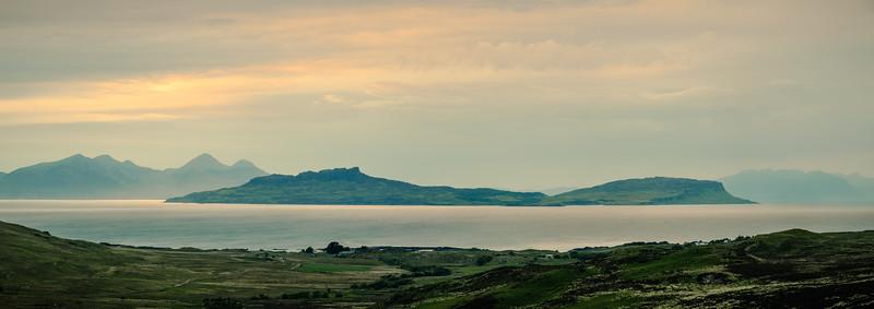 Illuminated Isle - Isle of Eigg viewed from Doire Daraich, Ardnamurchan
