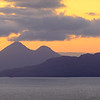 Two Small Isles – Eigg & Rùm from the road to Kilchoan at Doire Daraich, Ardnamurchan