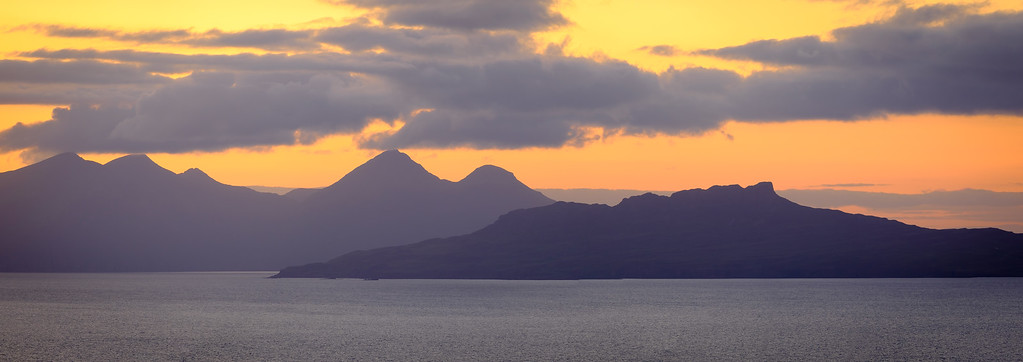 Two Small Isles - Eigg & Rùm from the road to Kilchoan at Doire Daraich, Ardnamurchan