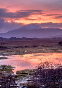 Sunrise Above the Marsh I - Kentra Bay, Gobshealach, Ardnamurchan