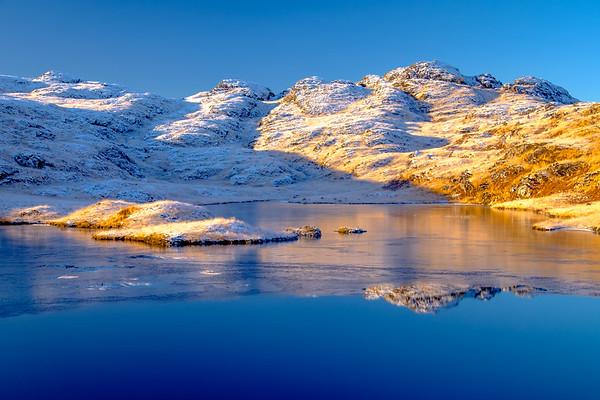 Frozen Reflection - Lochan Blain, Blain, Moidart