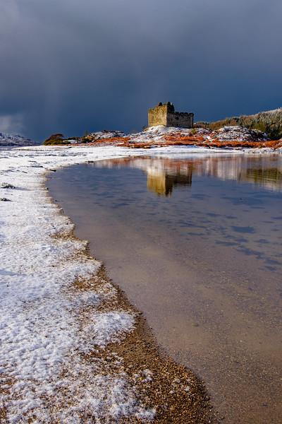 Snow Meets Sea II - Castle Tioram, Doirlinn, Moidart