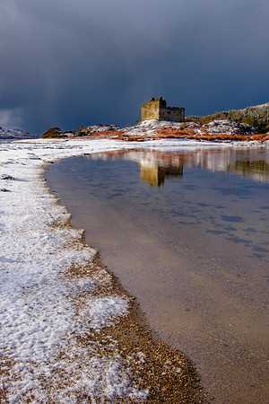 Snow Meets Sea II - Castle Tioram, Doirlinn, Moidart