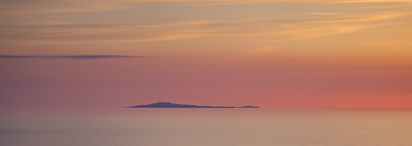 Summer Tranquillity I - The Small Isle of Muck viewed from Smirisary, Moidart