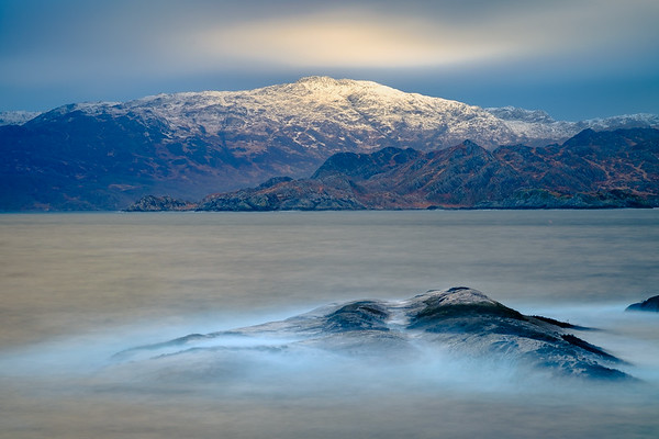 Waves, Snow and Light I – Rubh a' Chairn Mhoir, Glenuig, Moidart