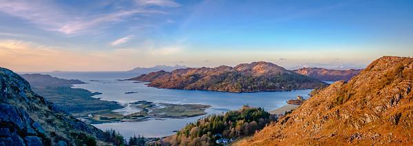 Shona and Beyond - Loch Moidart and Eilean Shona from Beinn Gheur, Dorlin, Moidart