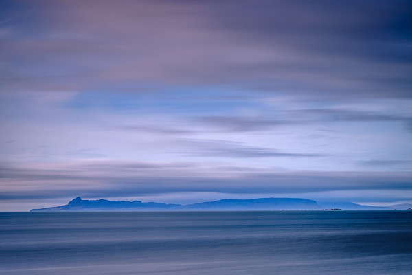 Eigg Blues - Isle of Eigg from Rubh a' Chairn Mhoir, Glenuig, Moidart