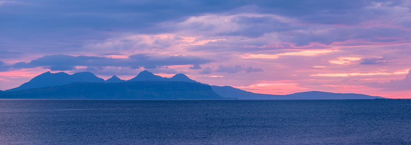 On the Horizon - Eigg and Rùm from Samalaman Bay, Glenuig, Moidart