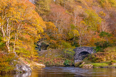 Autumn Crossing II - Old Shiel Bridge, River Shiel, Blain, Moidart
