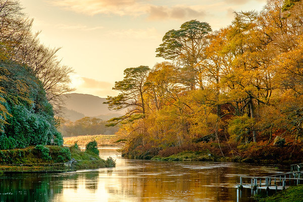 Last Autumn Light - River Shiel, Blain, Moidart