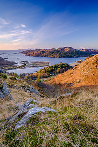 Shade and Light - Loch Moidart and Eilean Shona from Beinn Gheur, Dorlin, Moidart