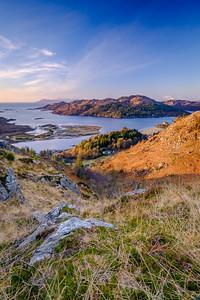 Shade and Light - Loch Moidart and Eilean Shona from Beinn Gheur, Dorlin, Moidart