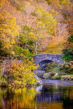 Autumn Crossing I - Old Shiel Bridge, River Shiel, Blain, Moidart