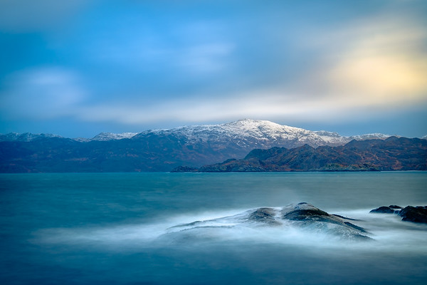 Waves, Snow and Light II – Rubh a' Chairn Mhoir, Glenuig, Moidart