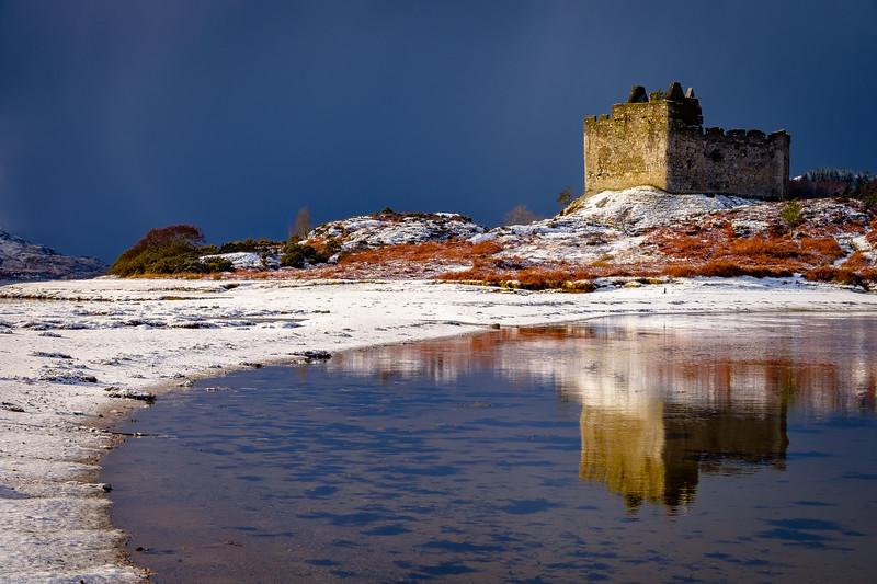 Snow Meets Sea I - Castle Tioram, Doirlinn, Moidart