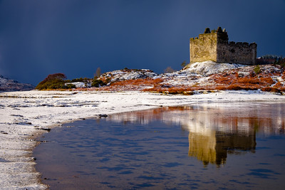 Snow Meets Sea I - Castle Tioram, Doirlinn, Moidart