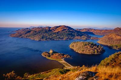 Western Lookout II - Castle Tioram and Loch Moidart, From Cruach nam Meann, Moidart