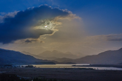 Blue Moon Light - Loch Shiel viewed from Cnoc Breac, Mingarry, Moidart