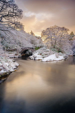 Winter River of Gold II - River Shiel, Blain, Moidart