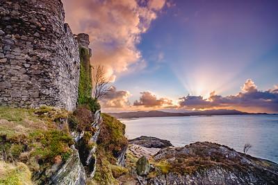 Last Rays - Castle Tioram, Cuil Doirlinn, Moidart