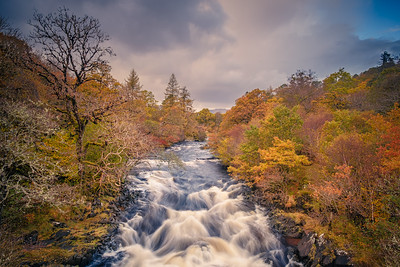 The Autumn Falls I - River Aline, Kinlochaline, Morvern