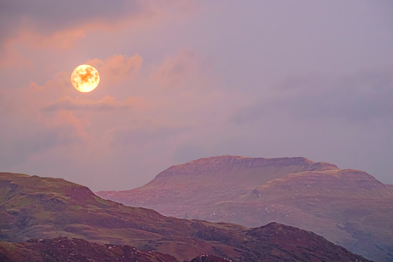 Morvern Harvest Moon II - Beinn na h-Uamha viewed from Ardslignish, Ardnamurchan