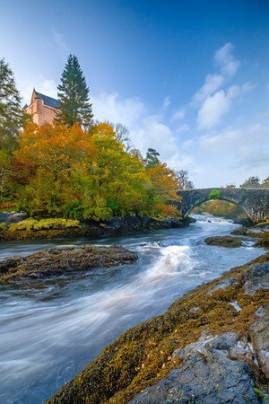 Autumn upon Aline II - The Ivy Bridge and Kinlochaline Castle, River Aline, Kinlochaline, Morvern