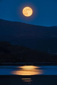 Golden Moonrise - Loch Sunart, Rockpool House, Resipole, Sunart