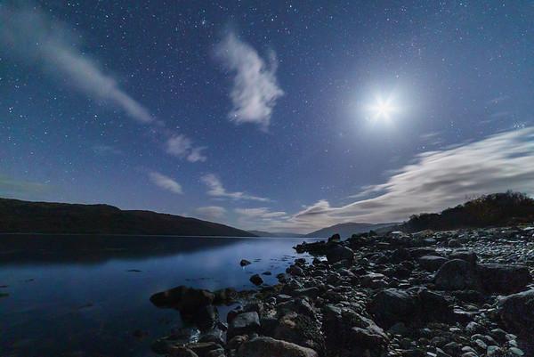 Lunar Loch-side - Loch Sunart, Resipole, Sunart