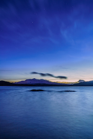 Twinkling in Twilight II - Loch Sunart and Ben Resipole, Viewed from Camas Torsa, Ardnamurchan
