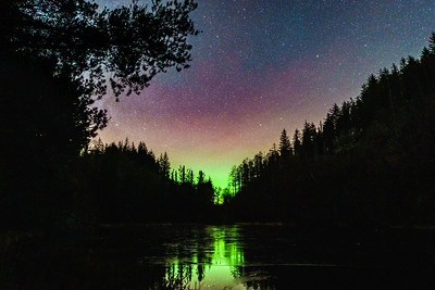 Aurora on Ice II - Lochan na Dunaich, Salen, Ardnamurchan