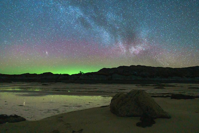 Andromeda Above Aurora - Sailean Dubh, Ardtoe, Ardnamurchan