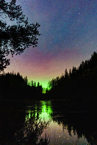Aurora on Ice I - Lochan na Dunaich, Salen, Ardnamurchan