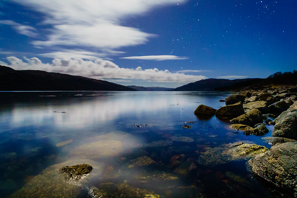 Moonlit Orion - Loch Sunart, Resipole, Sunart