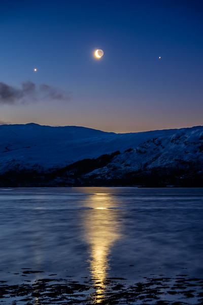 Moon in the Middle - Loch Sunart, Resipole, Sunart