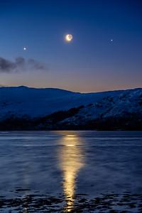 Moon in the Middle - Loch Sunart, Resipole, Sunart