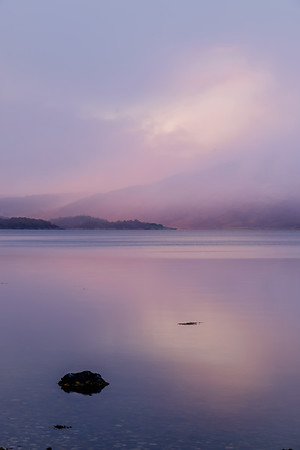 Sunrise and Snow III - Loch Sunart, Resipole, Sunart