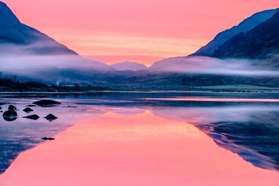 Loch End in Pink II - Loch Sunart, Strontian Slipway, Sunart