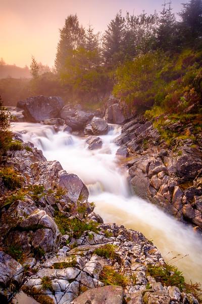 Autumnal Falls I - Carnoch River, Near Strontian, Sunart