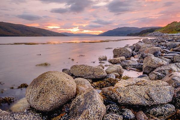 Sunart Sundown - Loch Sunart, Resipole, Sunart