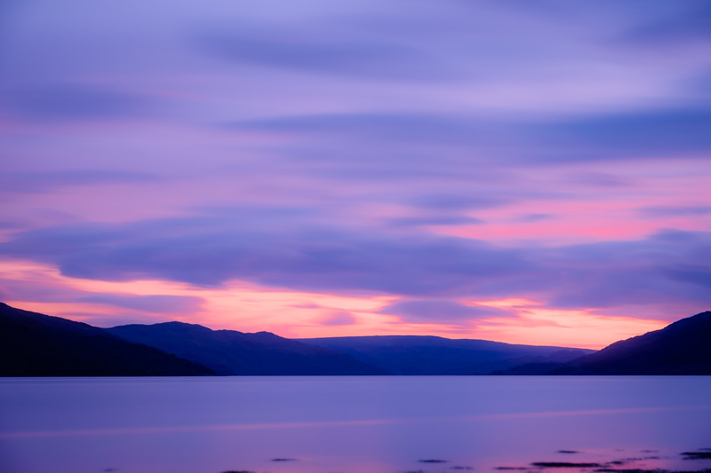 Purple Dusk - Loch Sunart, Resipole, Sunart