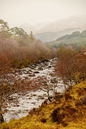 Mountain in the Mist - River Strontian, Ariundle Oakwood, Sunart
