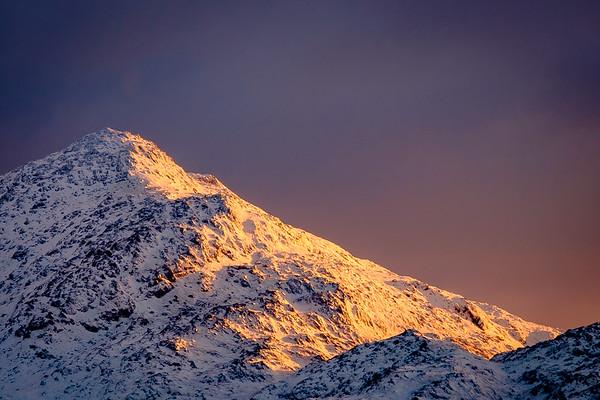 Snowy Beinn I - Beinn Resipol Summit taken from Camas Torsa, Salen, Ardnamurchan