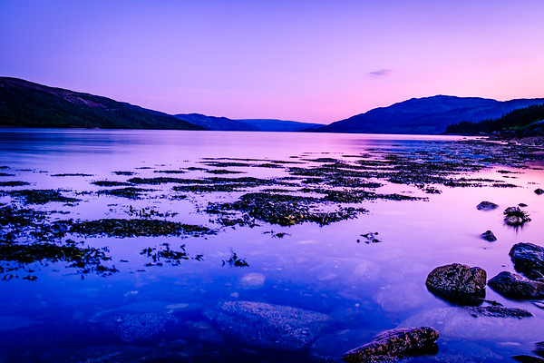 Delightful Dusk - Loch Sunart, Rockpool House, Resipole, Sunart