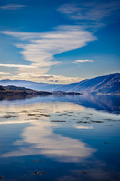 Sky in Sea- Loch Sunart, Resipole, Sunart
