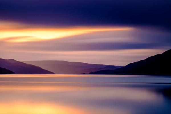 Violet & Gold - Morvern from Loch Sunart Shore, Rockpool House, Resipole, Sunart