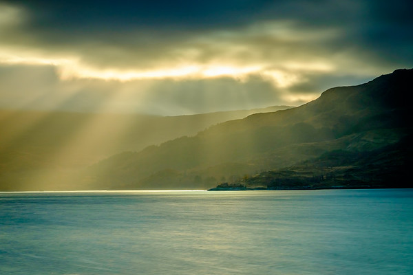 Breaking Through - Morvern from Loch Sunart Shore, Rockpool House, Resipole, Sunart